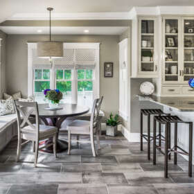 KEP Interior Designs Dining Area in Kitchen